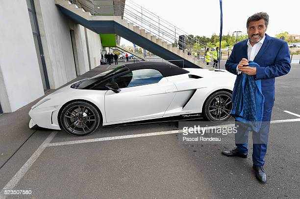 Montpellier President Mohed Altrad arriving in the stadium before the game between Montpellier Herault Rugby v Newport Gwent Dragons at Altrad...