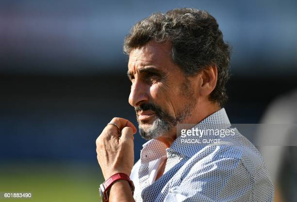 Montpellier rugby club president Mohed Altrad looks on prior to the French Top14 rugby union match between Montpellier and Pau on September 10 2016...