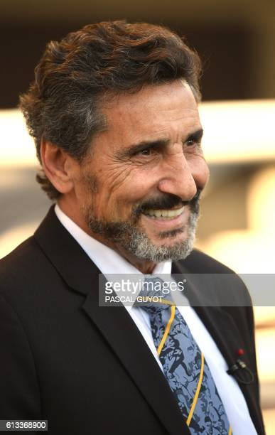 Montpellier rugby club's Syrianborn French President Mohed Altrad reacts on October 8 2016 at Altrad Stadium in Montpellier during the French Top 14...