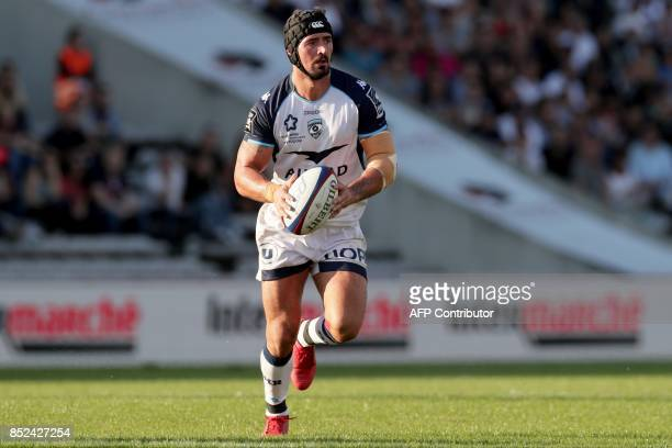 Montpellier's French centre Alexandre Dumoulin is pictured ahead of the French Top 14 rugby union match between BordeauxBegles and Montpellier on...