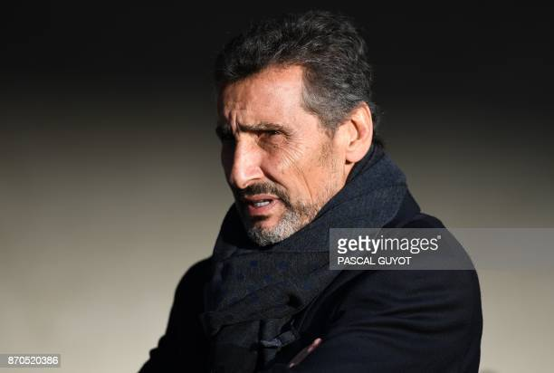 Montpellier's French president Mohed Altrad looks on prior to the French Top 14 rugby union match between Montpellier and Clermont on November 5 2017...
