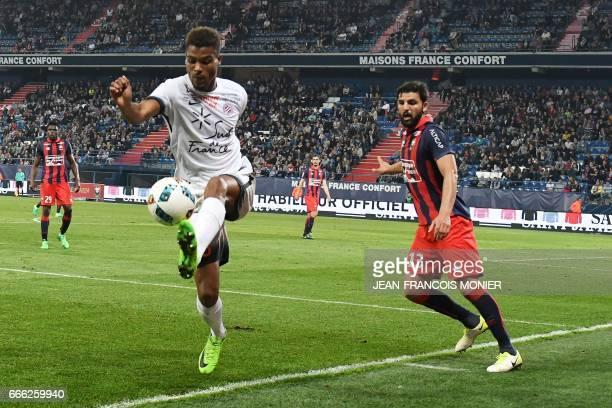 Montpellier's Malian midfielder Yacouba Sylla vies for the ball with Montpellier's French midfielder Ellyes Skhiri during the French L1 football...