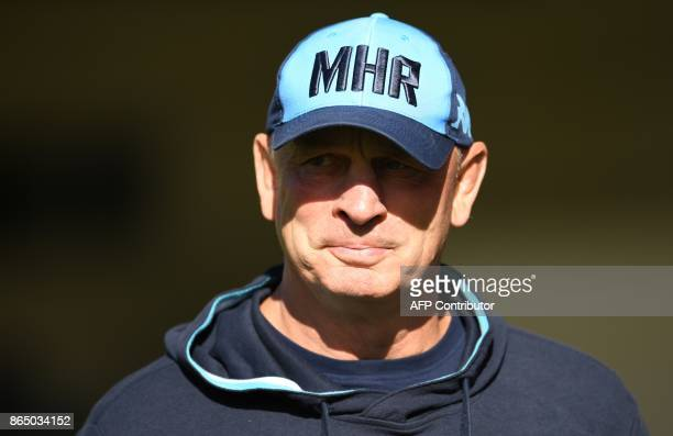 Montpellier's New Zealander head coach Vern Cotter looks on during the European Champions Cup rugby union match between Montpellier and Exeter Chiefs...