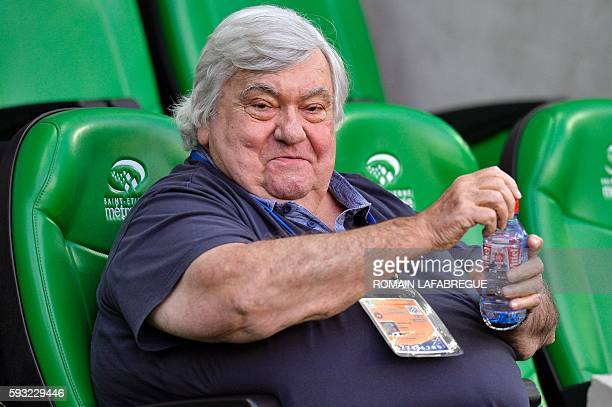 Montpellier's President Louis Nicollin reacts during the French Ligue 1 Football match between SaintEtienne and Montpellier at the GeoffroyGuichard...