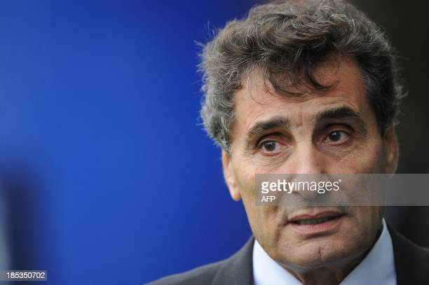 Montpellier's president Mohed Altrad arrives on October 19 2013 for a European Cup rugby union match between Montpellier and Ulster at the Yves du...