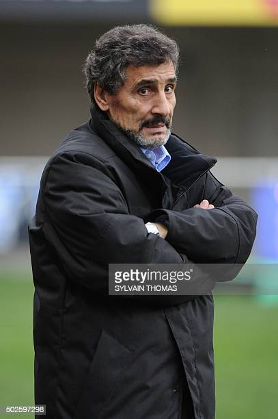 Montpellier's president Mohed Altrad looks on before the French Top 14 rugby Union match Montpellier vs Agen at the Altrad stadium in the French...