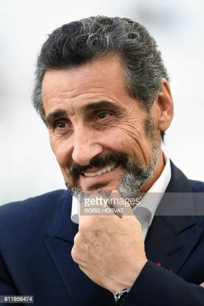 Montpellier's president Mohed Altrad poses prior to the French Top 14 rugby union match between RC Toulon and Montpellier on October 2 2016 at the...