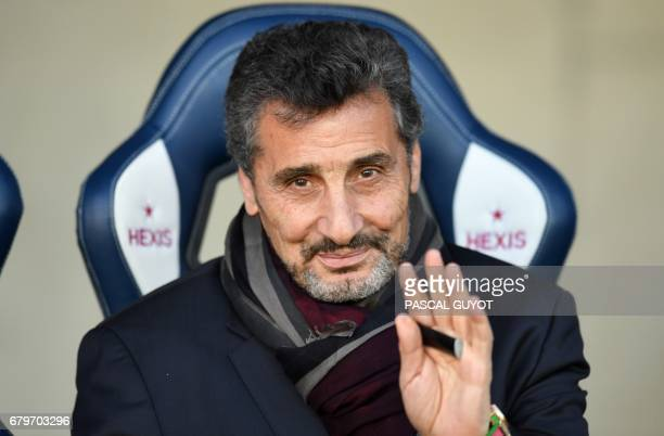 Montpellier's president Mohed Altrad poses prior to the French Top14 rugby union match between Montpellier and Stade Français on May 6 2017 at the...