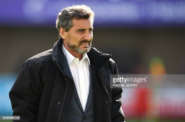 Montpellier's rugby union club President Mohed Altrad attends the French Top 14 rugby union match between Montpellier and Grenoble on April 30 2016...