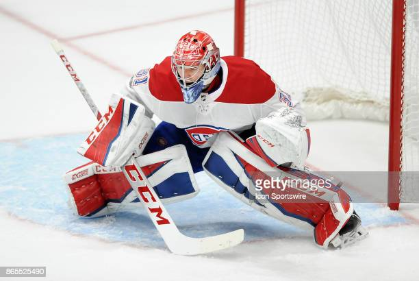 Montréal Canadiens goalie Carey Price in action during the third period of a game against the Anaheim Ducks on October 20 played at the Honda Center...