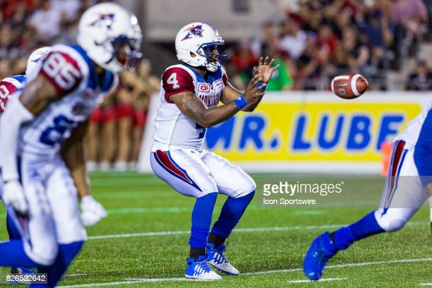 Montreal Alouettes quarterback Darian Durant prepares to receive the snap during Canadian Football League action between Montreal Alouettes and...