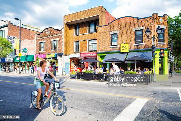 Montreal Avenue Mont-Royal Summer City Scene