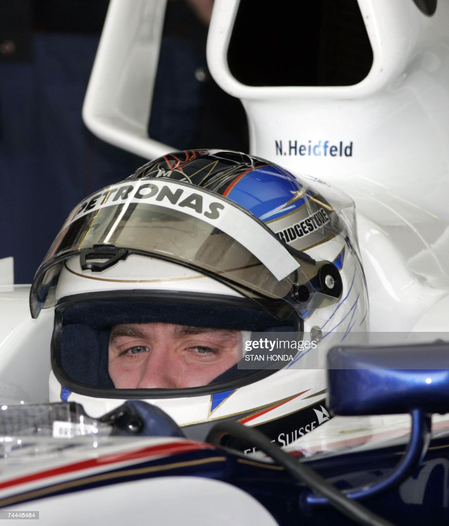 BMW Sauber driver Nick Heidfeld of Germany sits in the pits during the second practice session 08 June 2007 at the Formula One Grand Prix of Canada in Montreal, Canada. The race will be held 10 June. AFP PHOTO/Stan HONDA