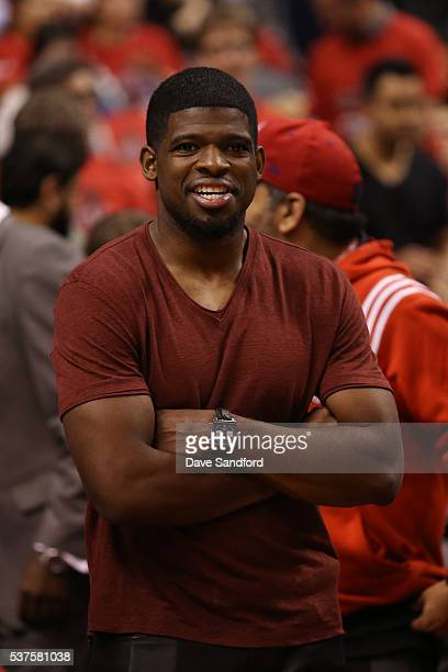 Montreal Canadian PK Subban attends Game Six of the NBA Eastern Conference Finals between the Cleveland Cavaliers and the Toronto Raptors at Air...