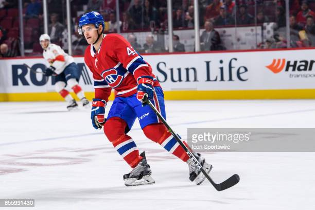 Montreal Canadiens center Byron Froese skates during the first period of the NHL preseason game between the Florida Panthers and the Montreal...