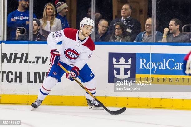 Montreal Canadiens Center Jonathan Drouin in action during the first period of a regular season NHL game between the Montreal Canadiens and the New...