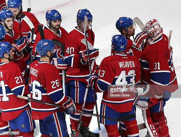 Montreal Canadiens goalie Carey Price and teammates celebrated after taking Game 6 with a 40 shutout over the Boston Bruins The Montreal Canadiens...