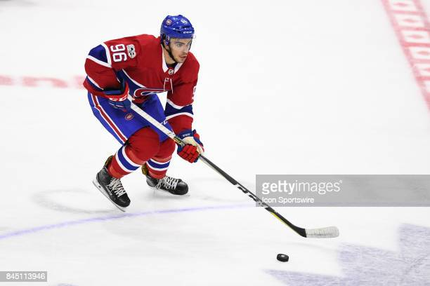 Montreal Canadiens left wing Jordan Boucher skates with the puck during the third period of the NHL rookie tournament game between the Montreal...