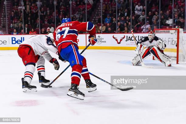 Montreal Canadiens Left Wing Max Pacioretty about to shoot on Columbus Blue Jackets Goalie Sergei Bobrovsky during the Columbus Blue Jackets versus...