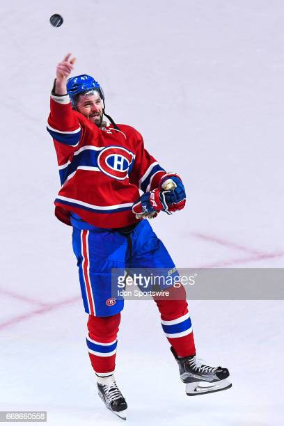 Montreal Canadiens right wing Alexander Radulov first star of the game after scoring the winning goal in overtime during the game 2 of the first...