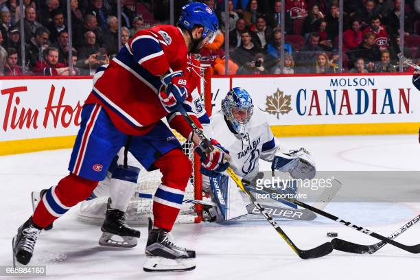 Montreal Canadiens Right Wing Alexander Radulov shooting on Tampa Bay Lightning Goalie Andrei Vasilevskiy during the Tampa Bay Lightning versus the...