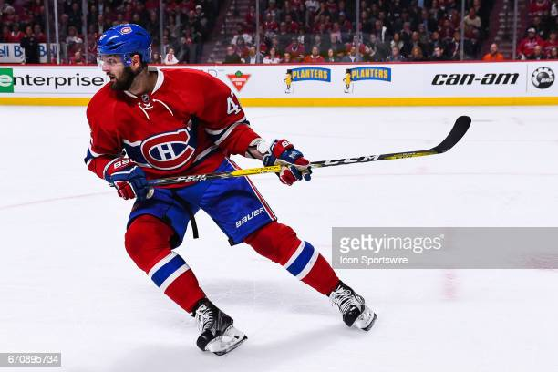 Montreal Canadiens right wing Alexander Radulov turning while skating during the game 5 of the first round of the 2017 NHL Stanley Cup Playoffs...