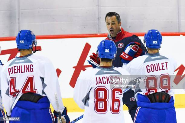 Montreal Canadiens Rookie center Ryan Poehling Montreal Canadiens Rookie left wing Robby Jackson Montreal Canadiens Rookie center Alexandre Goulet...