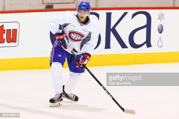Montreal Canadiens Rookie center Ryan Poehling skating during the Montreal Canadiens Development Camp on July 4 at Bell Sports Complex in Brossard QC