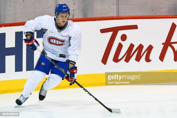 Montreal Canadiens Rookie left wing Michael Pezzetta skating during the Montreal Canadiens Development Camp on July 4 at Bell Sports Complex in...