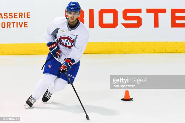 Montreal Canadiens Rookie left wing Robby Jackson skating with the puck during the Montreal Canadiens Development Camp on July 4 at Bell Sports...