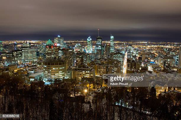 Montreal city skyline at night, Quebec, Canada