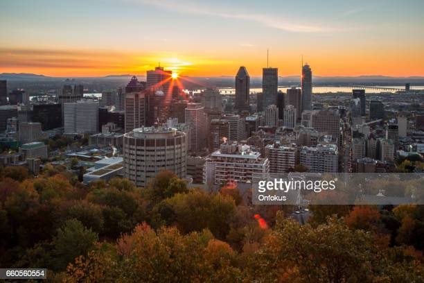 Montreal Cityscape at Sunrise, Canada