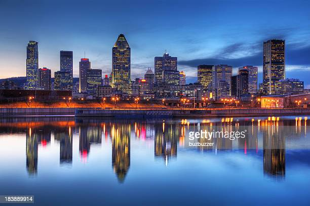Montreal, Stadt Reflexion bei Sonnenuntergang