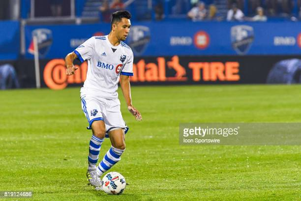 Montreal Impact forward David Choiniere in control of the ball during the Philadelphia Union versus the Montreal Impact game on July 19 at Stade...