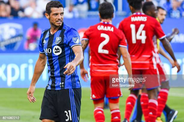 Montreal Impact midfielder Belrim Dzemaili frustrated after a call from the referee during the FC Dallas versus the Montreal Impact game on July 22...