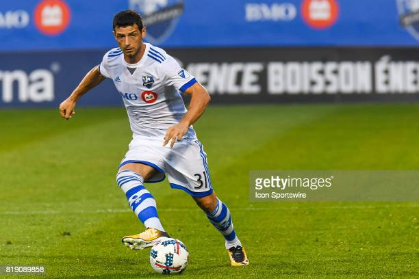 Montreal Impact midfielder Belrim Dzemaili getting to the ball during the Philadelphia Union versus the Montreal Impact game on July 19 at Stade...