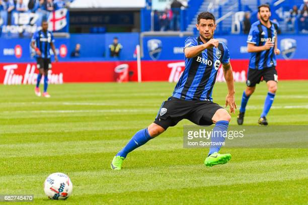 Montreal Impact midfielder Belrim Dzemaili running towards the ball during the Columbus Crew FC versus the Montreal Impact game on May 13 at Stade...