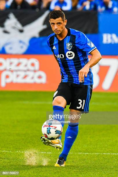Montreal Impact midfielder Blerim Dzemaili kick the ball during the New England Revolution versus the Montreal Impact game on October 22 at Stade...
