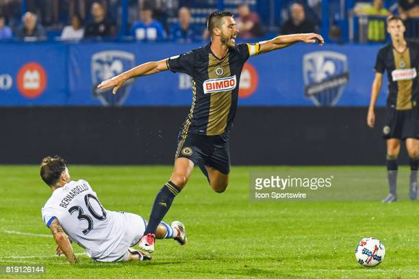 Montreal Impact midfielder Hernan Bernardello tackling Philadelphia Union midfielder Haris Medunjanin during the Philadelphia Union versus the...