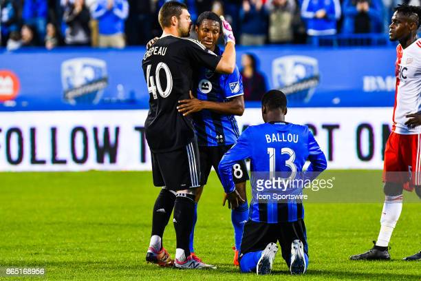 Montreal Impact midfielder Patrice Bernier getting emotional leaving the field in Montreal for the last time and heading into retirement being showed...