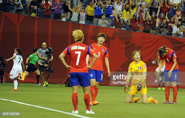 Montreal June 132015 Despair players Team Korea Republic after receiving an equalizer in 89 minutes during their group E match at the 2015 FIFA...