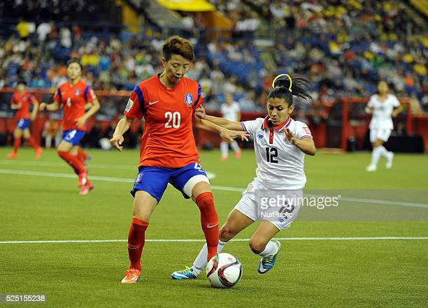 Montreal June 132015 KIM Hyeri of Korea Republic vies with Lixy Rodriguez of Costa Rica during their group E match at the 2015 FIFA Women' s World...