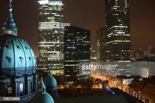 Montreal night scenic