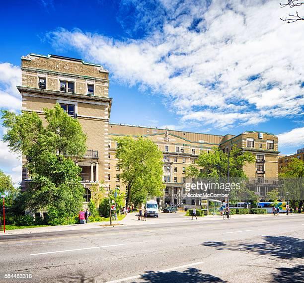 Montreal Notre-dame Hospital Sherbrooke street entrance