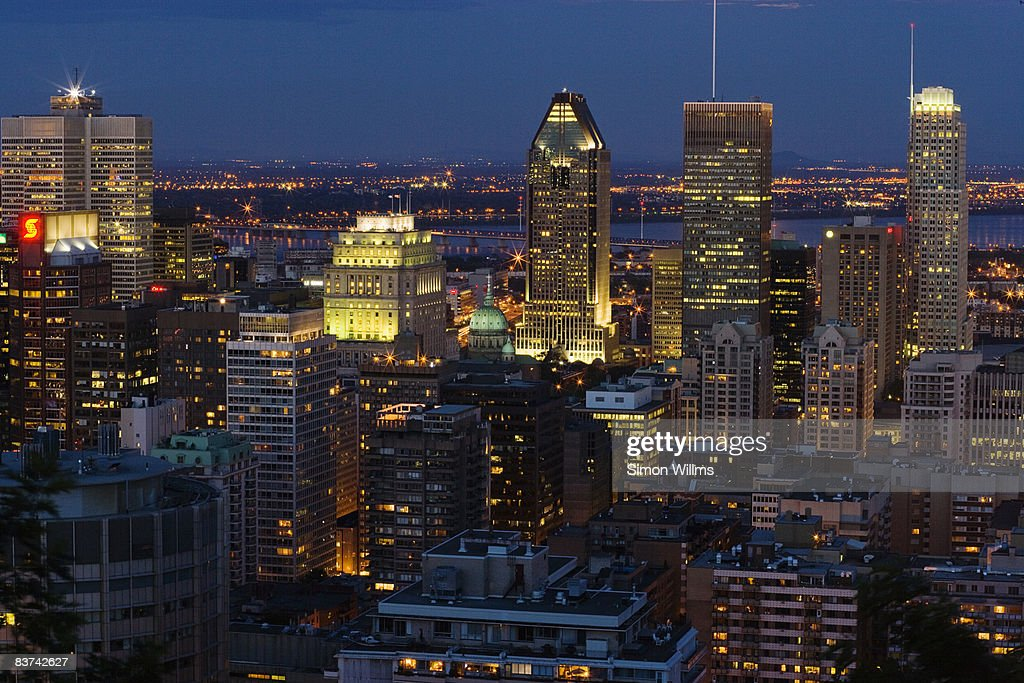 Montreal skyline at night : Stock Photo