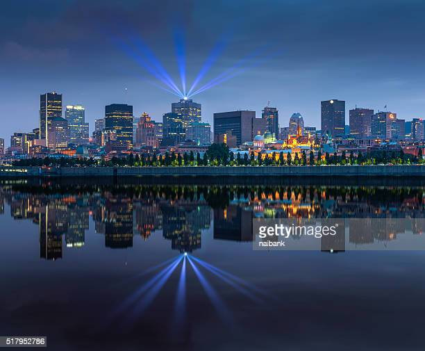 Montreal skylines from Jean-Drapeau park