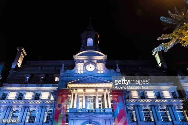Montreal's City Hall at Night The building is one of the best examples of the Second Empire style in Canada It was designated a National Historic...
