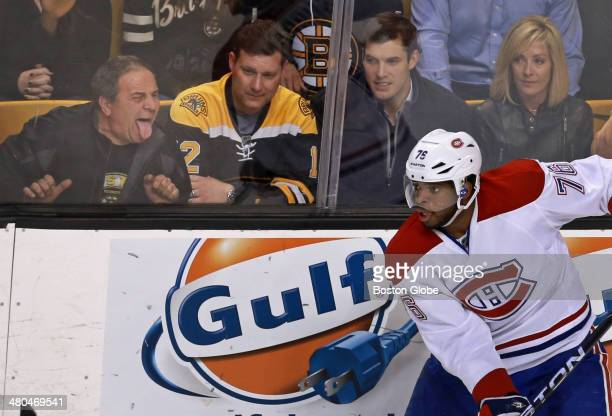 Montreal's PK Subban has never been a favorite of Bruins fans and one at left reflects that The Boston Bruins hosted the Montreal Canadiens in an NHL...