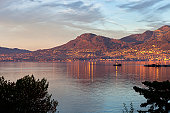 Montreux in late summer setting sun