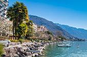 Montreux Riviera of Lake Geneva in Canton Vaud, Switzerland